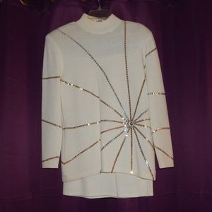 Vintage St. John Evening Sweater Skirt Set RARE